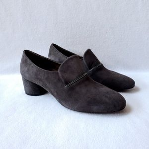 Coclico Gray Suede Loafer Shoes 38.5 8 BNIB